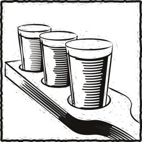 Lino cut style Illustration